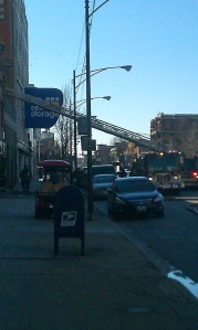 Firefighters on the scene.Photo by Mason Walker