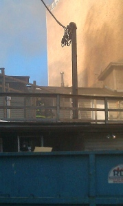 63 Bar & Grill fire.Photo by Mason Walker.