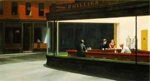 """Nighthwaks"" by Edward Hopper, at Art Institute."