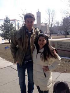 Nathaniel Buzolic and Loyola sophomore Lauren Stone.