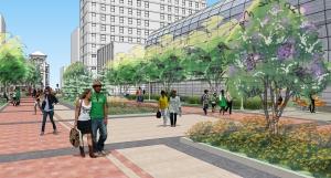 Kenmore Plaza rendering. Loyola University image.