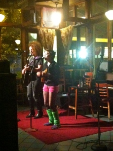 Musicians perform at Heartland Cafe's open mic night. Photo by Sydney Cross.